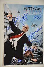 Hitman Agent 47-Cast signed 20x30cm PHOTO AUTOGRAFO/Autograph in persona
