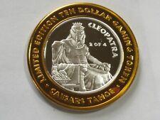 Massive Caesar And Cleopatra Gold Colored Medallion~Big Berta Prize~Free Ship
