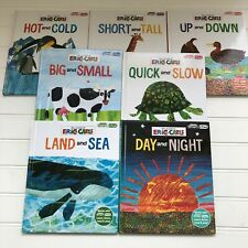 World of Eric Carle Lot of 7 First Smart Pad Opposites Books Hardcover