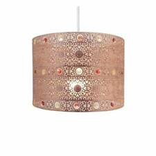 MOROCCAN STYLE COPPER GEM CHANDELIER CEILING LIGHT SHADE FITTING ROUND