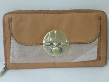 Mimco Leather Large Turnlock Travel Wallet Clutch Purse BNWT RRP $249 HONEY
