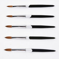 Nail Art Brush Set Kolinsky Sable For Gel Acrylic Nail Manicure Pedicure Brushes