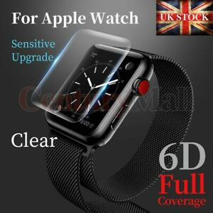 Full Cover Tempered Glass Screen Protector For Apple Watch 6 5 SE 4 44mm 40mm 3