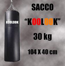SACCO BOXE/ SACCO DA BOXE PIENO ARTI MARZIALI PIENO DA 30 KG, 100x34 cm NERO !!!