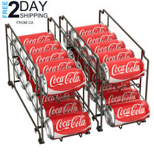 2 Pack Canned Food Dispenser Can Organizer Refrigerator Soda Coke Storage Rack