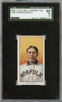 Rare 1909-11 T206 Charles Seitz Old Mill Southern League Norfolk SGC 60 / 5 EX