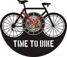 Vinyl Clock Bike Cycle Ont werp Art Vinyl Wall Clock Gift Room Modern