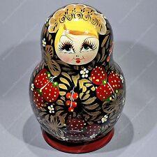 10 PIECES RUSSIAN TRADITIONAL KHOKHLOMA MATRYOSHKA BABUSHKA NESTING DOLL 10PCS