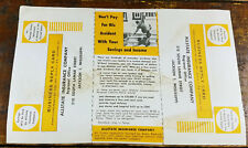 1950s Allstate Insurance Company Auto Insurance Information Sheet Junk Mailer