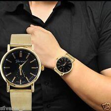 Hombre Mujer Clásico Cuarzo Análoga Acero inoxidable Wrist Watch Aleación Reloj
