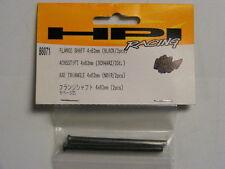 HPI RACING #86071 - FLANGE SHAFT 4x62mm (BLACK/2pcs) FITS: HPI SAVAGE 21 / 25