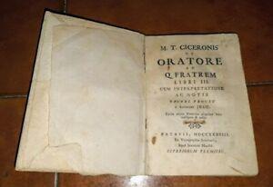 CICERONE DE ORATORE LIBRI III ED. TIPOGRAFIA SEMINARIO PADOVA 1738 LATINO