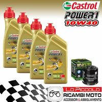 KIT TAGLIANDO 4 LT OLIO CASTROL POWER 1 10W40 FILTRO BMW G Xcountry 650 2007