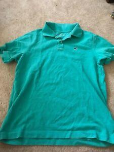 EUC: Vinyard Vines short sleeve knit golf shirt, sz YL (18)