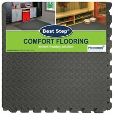 FLOOR MAT,EXERCISE,GYM ETC WORK ,INTERLOCKING TILES & BORDERS 32 SQ FEET- 8 TILE