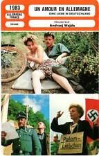 FICHE CINEMA : UN AMOUR EN ALLEMAGNE - Schygulla,Lysak,Wajda 1983