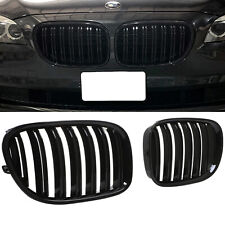 BLACK TWIN DOUBLE BAR M CALANDRE LOOK POUR REIN BMW SERIE 7 F01 F02 F03 F04
