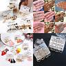 Trendy Boho Tassel Crystal Pearl Earrings Set Women Ear Stud Dangle Jewelry Gift