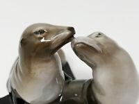 Rosenthal Porzellan Figur Robben Seehunde K. Himmelstoss 1. Wahl handgemalt