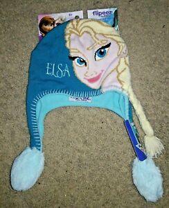 ❄ Flipeez Winter Knit Hat ELSA Girl's Disney's Frozen 2 New NWT Cap Snow Queen