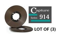 """LOT OF(3) CAPTURE SERIES 914 TAPE REEL TO REEL 1/4"""" X2500' 10.5"""" HUB ECOPACK RTM"""