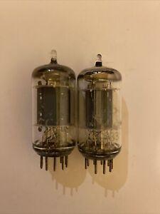 TELEFUNKEN ECC83 Demo-old-stock test-nice Matched-pair Same💎selectionRED-YELLOW
