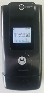 Motorola W series W490 - Black / Orange ( T-Mobile / GSM ) Flip Phone TESTED