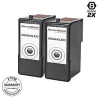 2pk Lexmark 23 18C1523 Black Ink Cartridge for Lexmark X4550 Z1420 Z1410 X4530