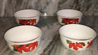 Royal Norfolk Set of 4 Bowls Fall Leaves & Acorns Autumn Soup Cereal-SHIP24H-NEW