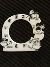 """Vintage """"Snoopy"""" Rotary Telephone Dial Number Pad w Characters"""