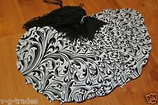 Lot 100 Large Ornate Elegant White & Black Merchandise Price Tags with String
