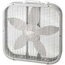 Lasko 3-Speed Box Fan White 20-Inch Portable Quiet Floor Window Cool Air Flow