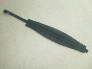 Black Polyester Mens Cummerbund- Cumberband - One Size - Adjustable, Ex. Cond.