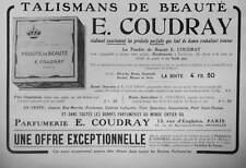 PUBLICITÉ DE PRESSE 1914 TALISMANS DE BEAUTÉ E.COUDRAY POUDRE DE BEAUTÉ PARFUMÉ