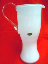 "Balboa Venetian Glass, made in Italy, large pitcher 11"" x 7"" ~ Invoice # 1542"