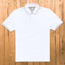 Calvin Klein Pima slim fit Cotton Short sleeve Polo Shirt , White,  2XL
