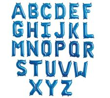 16 Inch Blue Letter Mylar Foil Balloon