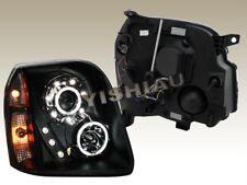 2007-2010 YUKON XL DENALI LED CCFL HALO PROJECTOR HEADLIGHTS BLACK