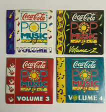 Vintage Coca-Cola POP MUSIC Mini CDs Volumes 1,2,3 & 4 Sealed from 1989 & 1990