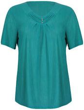 Maglie e camicie da donna camicetta verde con scollo a v