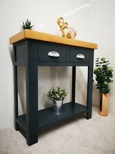 Blue Console Table / Painted Hallway Unit / Slim Entry Table / Kitchen Bench