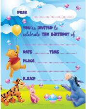 Winnie The Pooh Birthday Party Invitations Pack of 8 Kids Children Invites