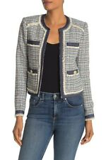 VERONICA BEARD AISHA TWEED BOUCLE MULTI COLOR JACKET BLAZER sz 0