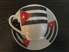 NEW CUBA Flag Coffee cup and Saucer