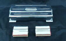 Vintage 3 Piece Art Deco Footed Cigarette Box With 2 Matching Match Holders
