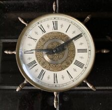 SMITHS Mid Century Nautical Boat Wheel Vintage Wall Clock