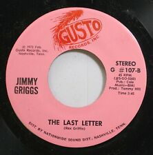 Country 45 Jimmy Griggs - The Last Letter / Depending On Which Side Of Love You'