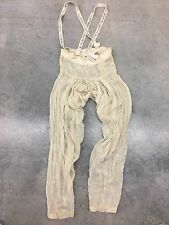Rare Free People New Romantics Sequin Embroidered Gypsy Overalls COACHELLA xs