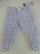 Weiße Hose mit kleinen Streublümchen in blau/gelb und Gummizugbund Gr. 50 NEU