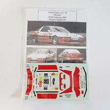 "Toyota Supra 3.0 i - R  ""Bemani"" DTM Norisring 1990  Philippe Muller Decals 1/43"
